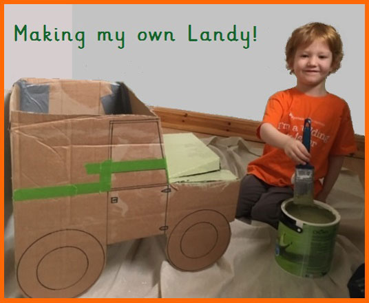 Eddie Making his Own Landy
