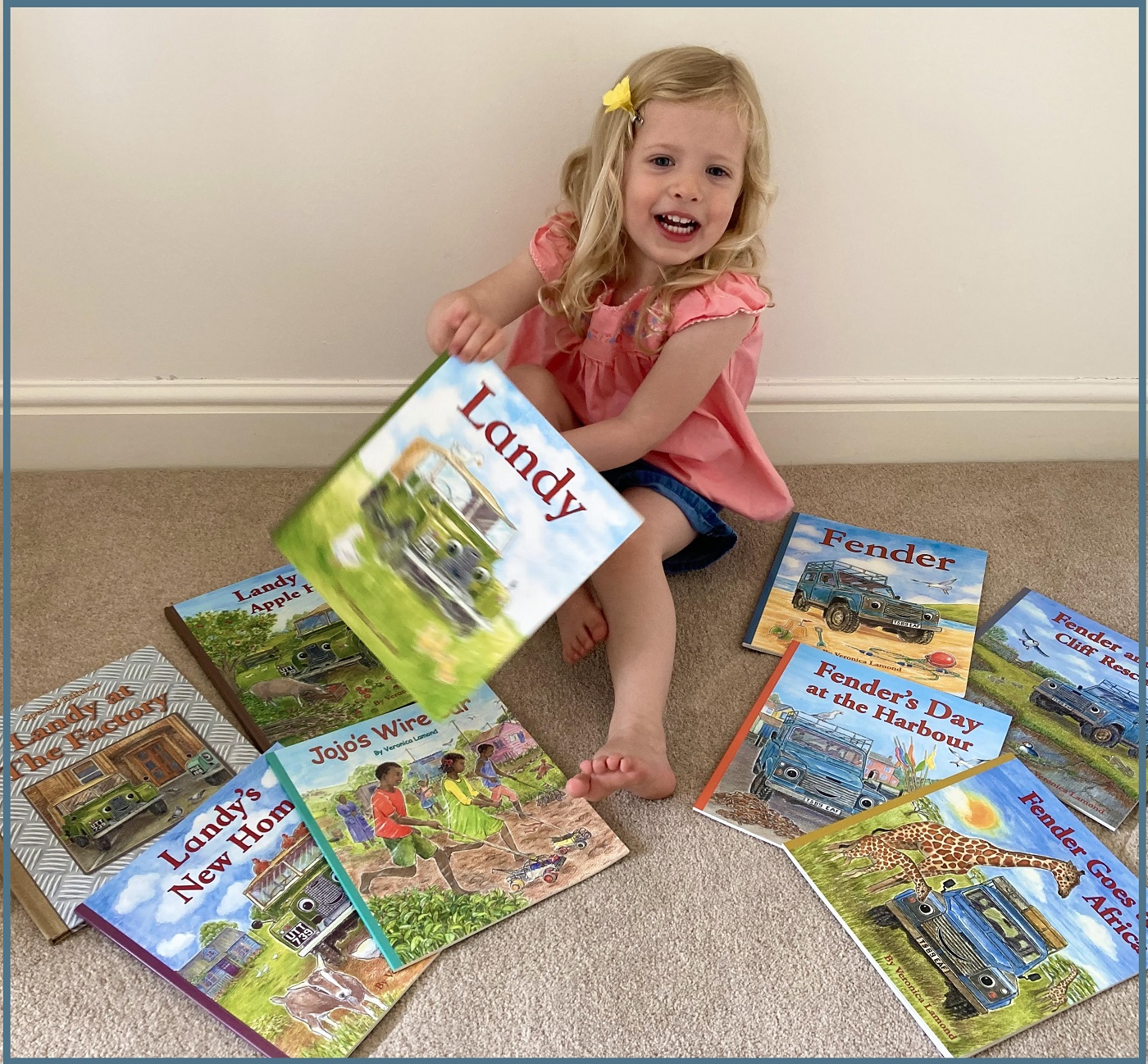 India with her books 2 for FB